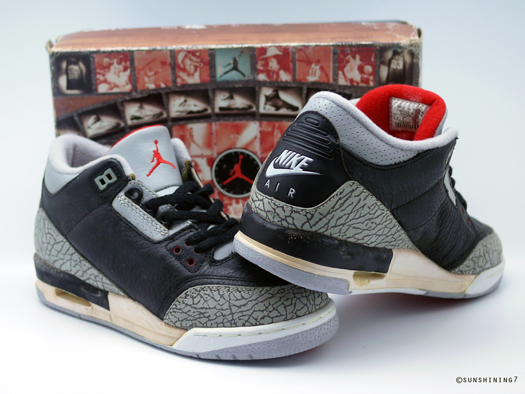 1988 Air Noir De Ciment Jordan 3