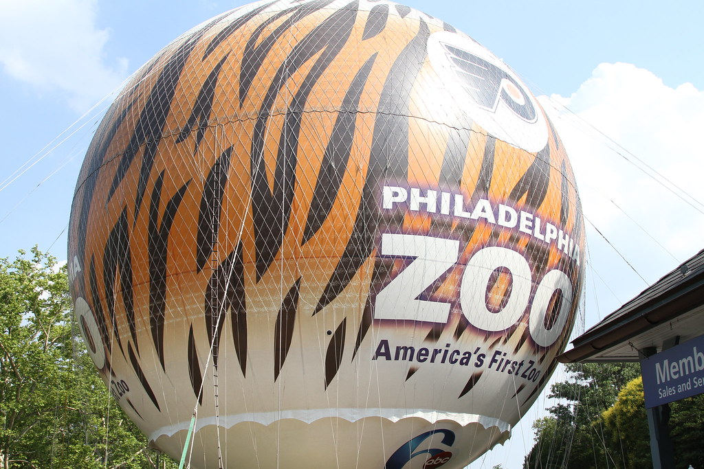 a giant balloon at the philadelphia zoo