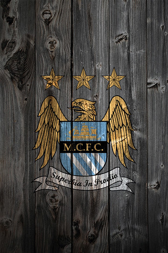 manchester city fc wood iphone 4 background logo on wood