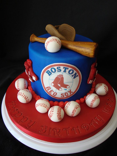 Red Sox Cake Images : Boston Red Sox Birthday Cake Laura Varela Flickr
