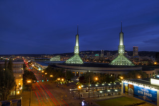 Oregon Convention Center at Blue Hour - Portland Oregon - HDR | by David Gn Photography