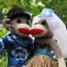 Hawaiian Wedding Sock Monkeys
