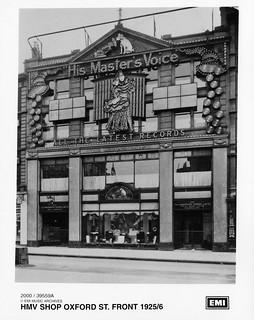 hmv 363 Oxford Street, London - Shop exterior 1925 or 26