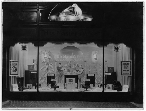 hmv 363 Oxford Street, London - Christmas window display 1926