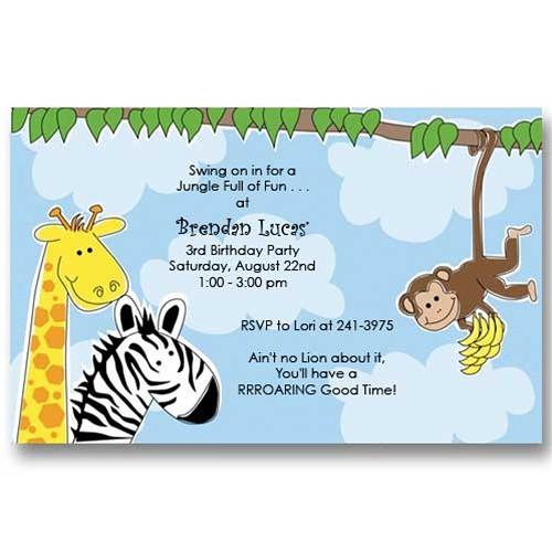 Jungle Zoo Birthday Invitations Www Babycachet Com Jungle Flickr