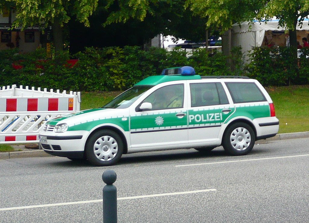 Green Car From Cars: One Of The Green Police Cars In