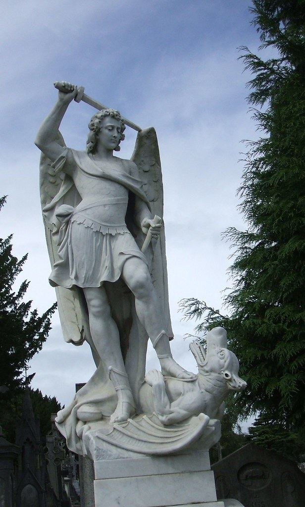 Archangel Michael Slaying The Dragon Glasnevin Cemetery