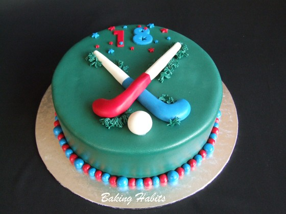 Field Hockey Cake Decorations