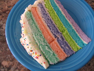 Rainbow Birthday Cake | by ottomanhandmade