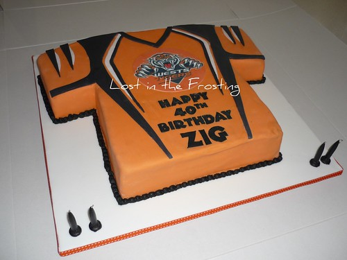 Wests Tigers NRL Jersey Cake Choc mud with licensed ...