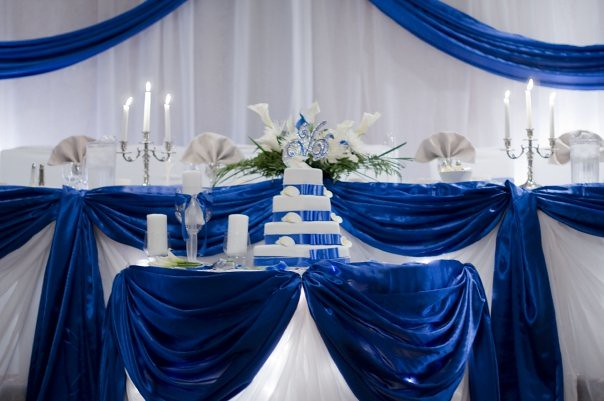Blue And Silver Table Decorations Photograph | Royal Blue Ta