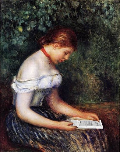 The Kindle Reader (A Young Girl Seated), after Renoir | by Mike Licht, NotionsCapital.com