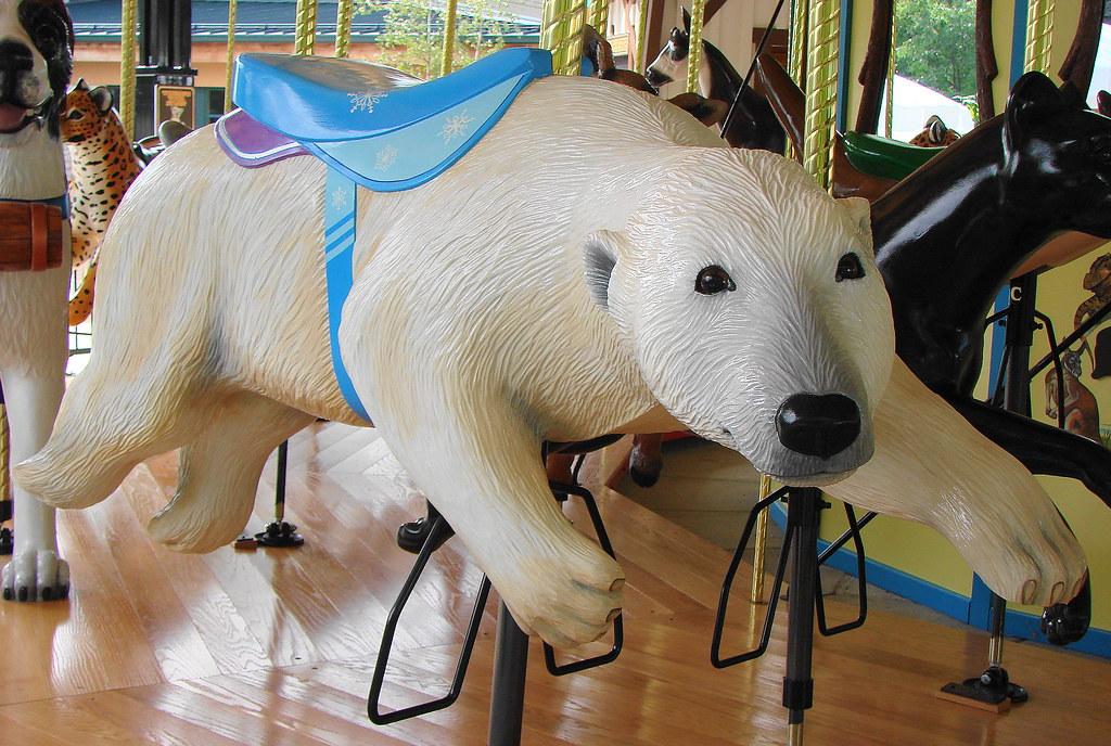 Polar Bear Carousel Animal At The Akron Zoo