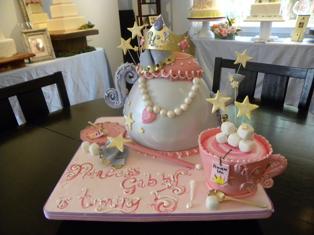 Tea Party Birthday Cake Pink Raspberry Cake with vanilla ...