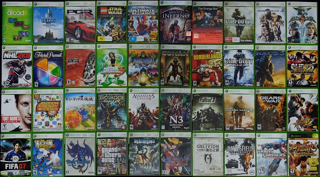 New Xbox 360 All Games : My xbox games collection august flickr