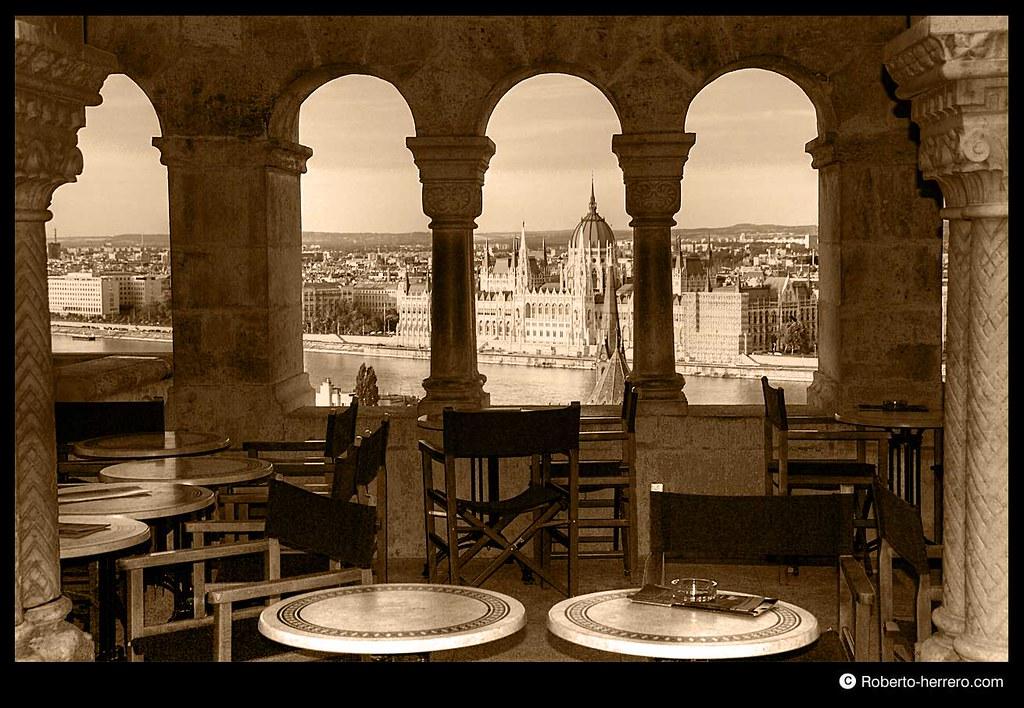 Restaurant at fishermen 39 s bastion overviewing danube rive - Roberto herrero ...