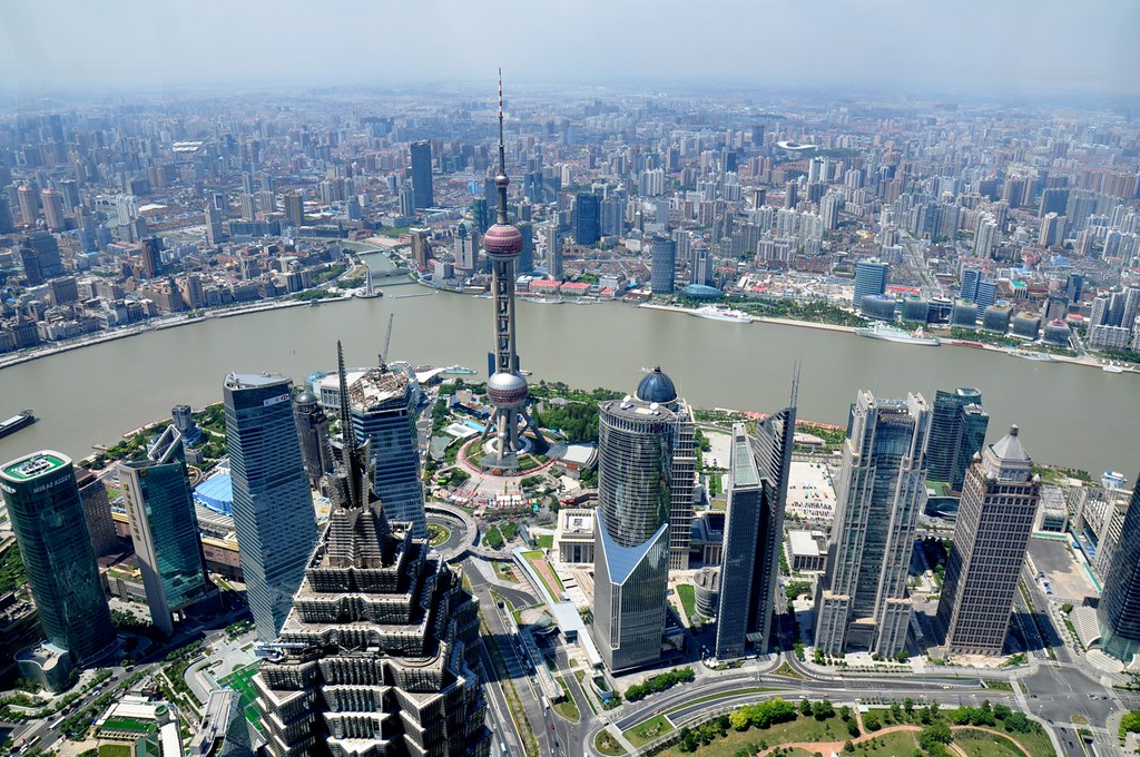 Shanghai from SWFC Observatory | Shanghai World Finance ...