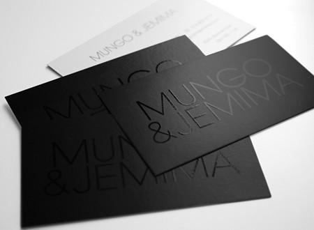 Mungo jemima business cards spot uv on black business c flickr mungo jemima business cards by red crown design reheart Image collections