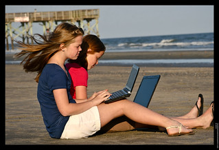 Homework on the beach | by Spree2010