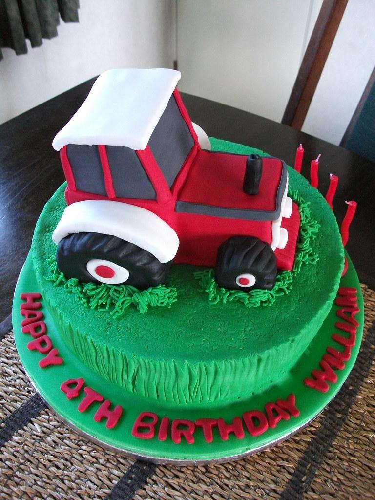 Tractor Birthday Cake William Loves Tractors Especially Flickr