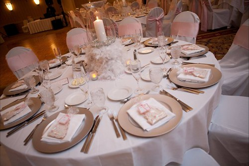 Pink amp Silver Table Setting Ashley Cornewell Flickr