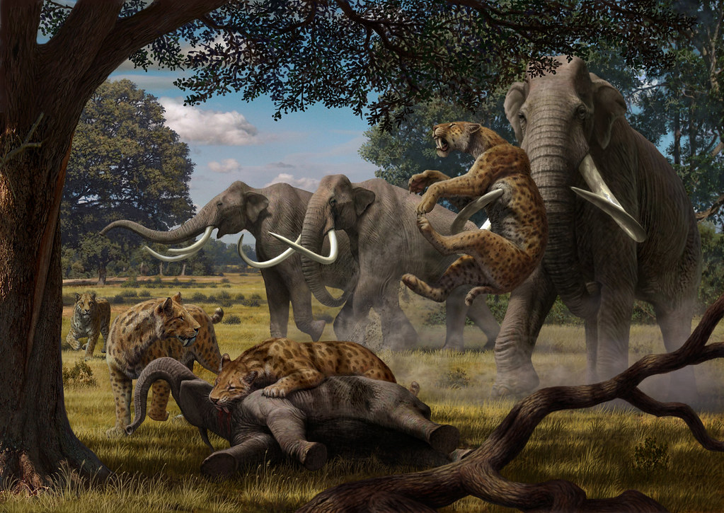 Smilodon Vs Deinonychus: Both Woolly Mammoths And Saber
