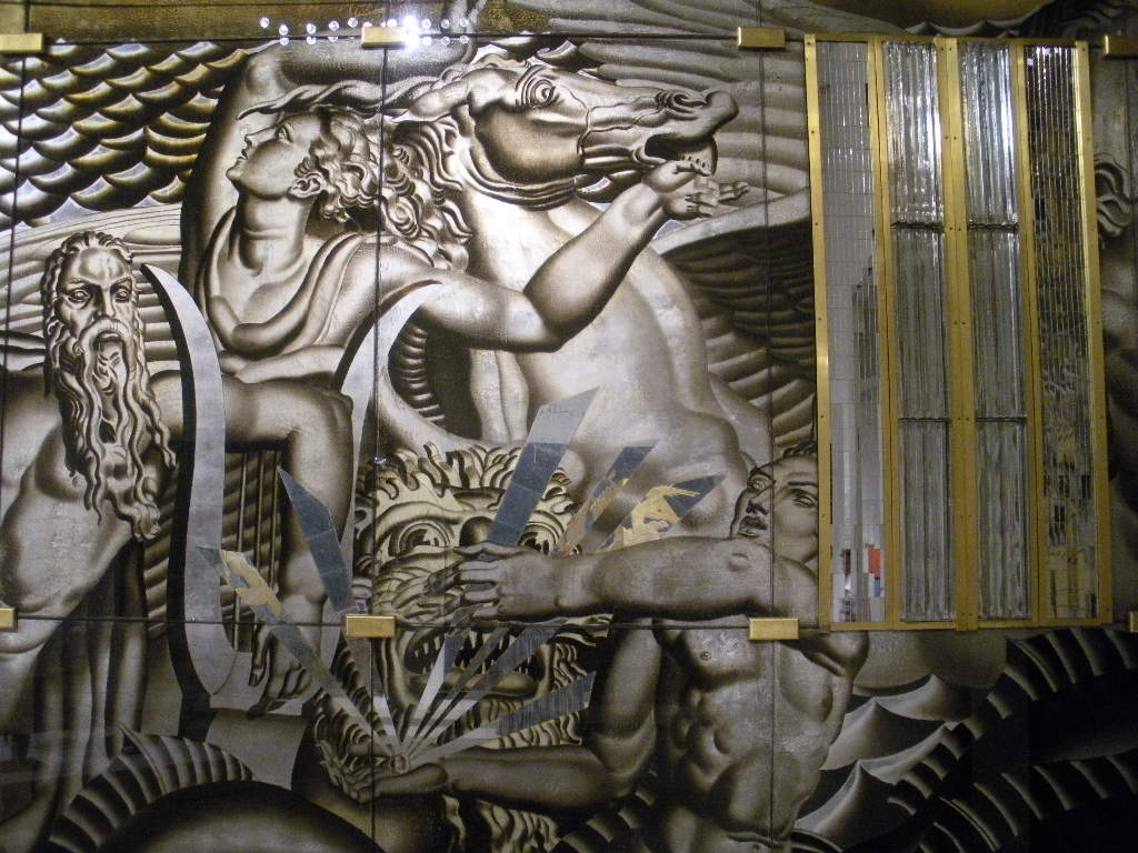 Jean Dupas Art Deco History Of Navigation Mural 1934 Glass