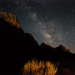 The Milky Way & Light-Painted Watchman Mtn @ Zion NP | by NikonKnight