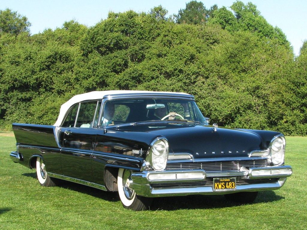 1957 lincoln premier convertible 39 kws 483 39 photographed. Black Bedroom Furniture Sets. Home Design Ideas