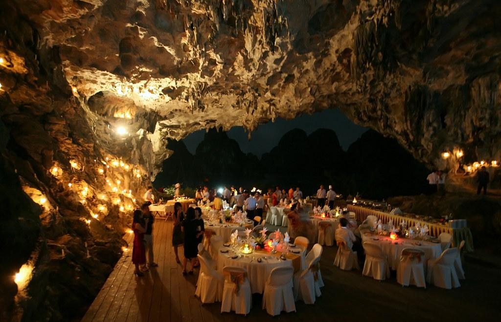 sparkling gala dinner in cave halong bay vietnam flickr. Black Bedroom Furniture Sets. Home Design Ideas