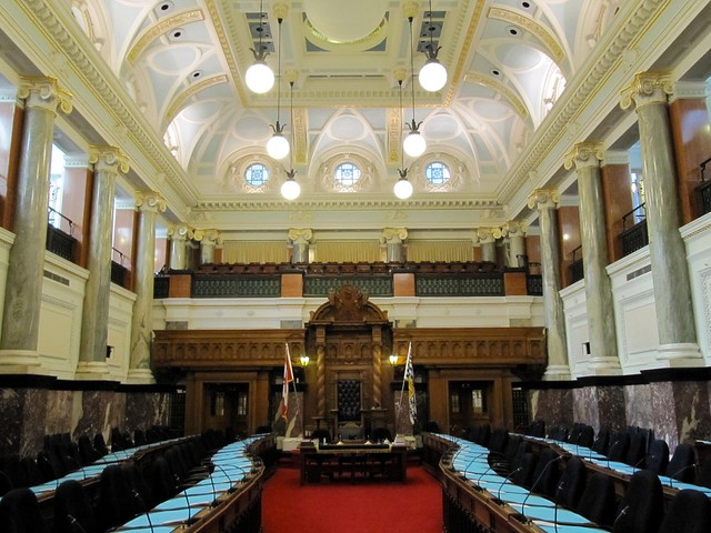 Legislative chamber inside british columbia parliament for Garden shed victoria bc