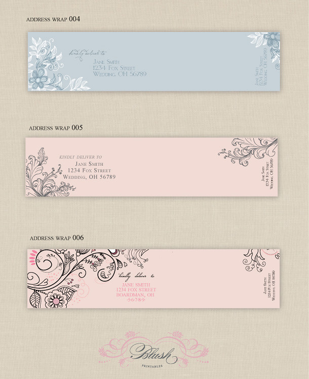 Wrap Around Address Label