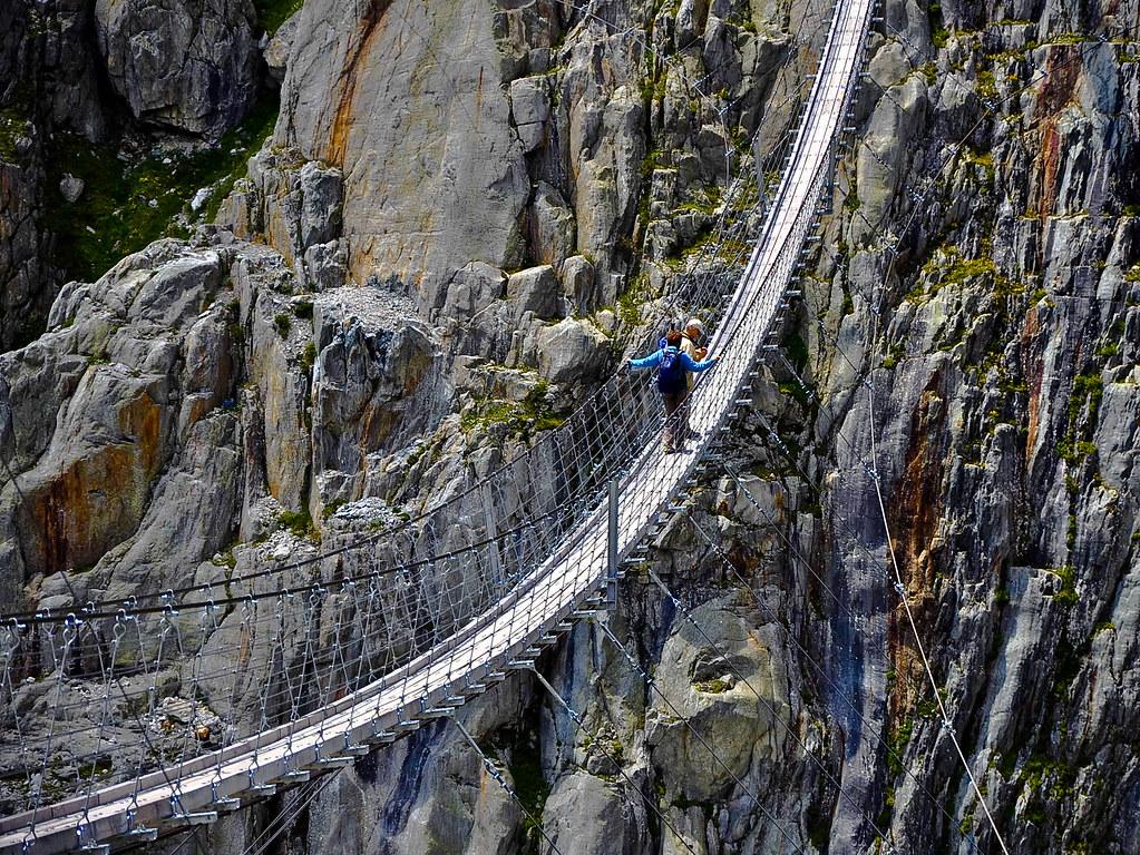 Мост подвесной фото