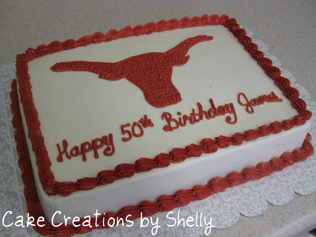 Texas Map With Longhorn Cake