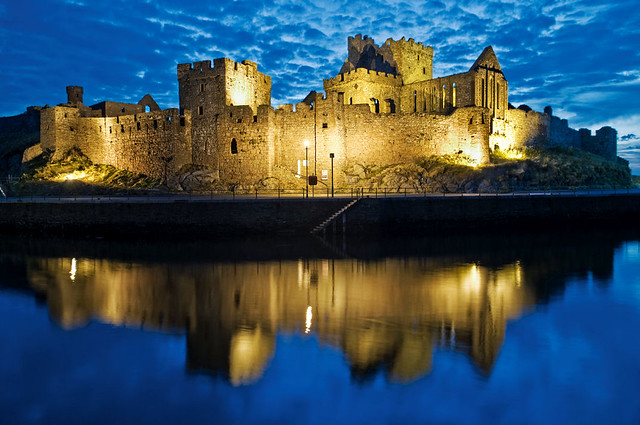 The Blue Hour Peel Castle Isle Of Man Flickr Photo