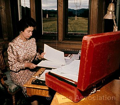 The Queen At Her Desk At Balmoral Castle The Queen Works