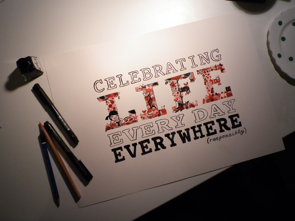 Celebration Of Life Quotes Diageo  90 Minutes Project  Working On Artwork To Be Displ…  Flickr