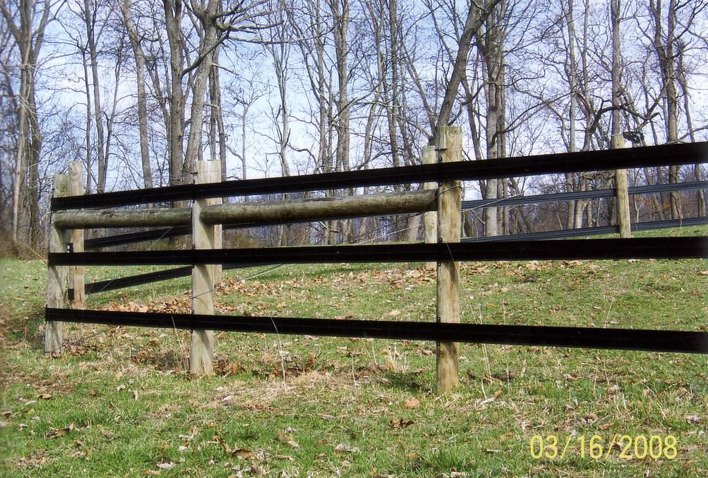 Flex Fence On Wood Posts Flex Fence Fencing Made