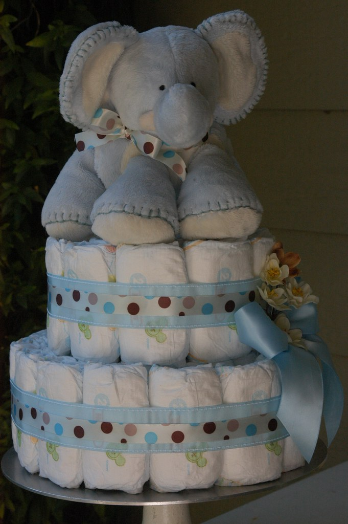 elephant diaper cake baby boy elephant cake design by adrienne 3878