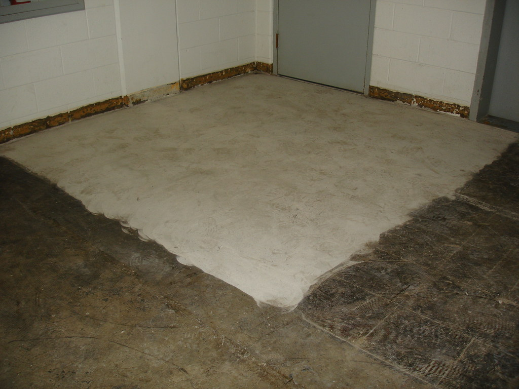 Asbestos Floor Tile Mastic Abatement Example Area