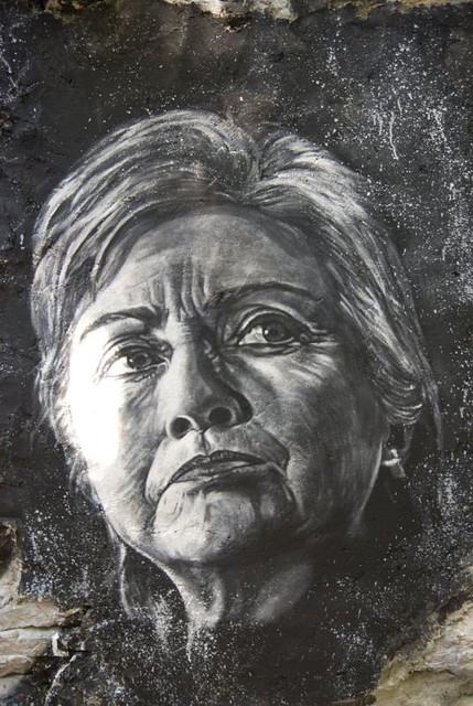 Hillary Clinton painted portrait _DDC9374