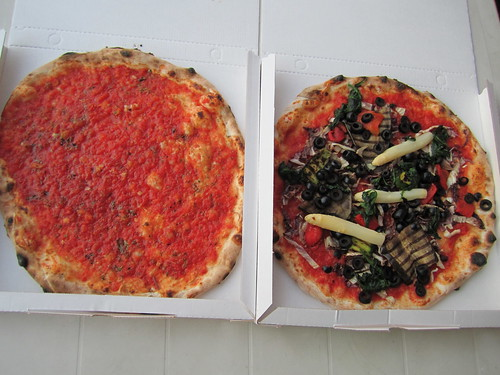 Vegetable Pizza and Marinara Pizza | by veganbackpacker