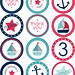 Nautical Party Stickers + Cupcake Toppers