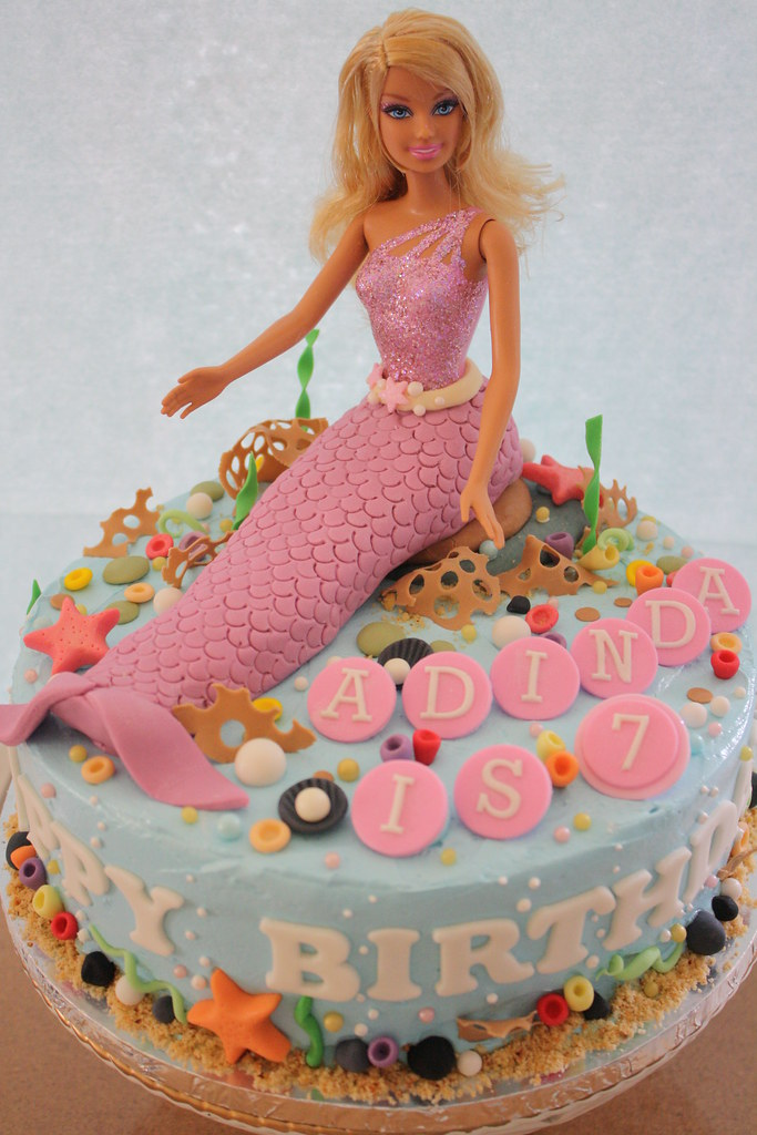 Mermaid Cake Birthday Cake For A 7 Years Old Girl She Req Flickr
