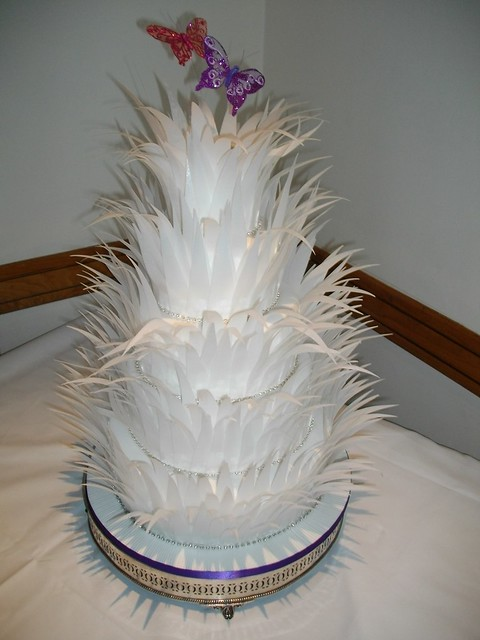 rice paper feather wedding cake paper feathers wedding cake flickr photo 19224