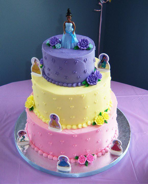Tiered Disney Princess Birthday Cake Karen Flickr
