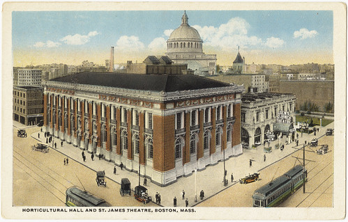 Horticultural Hall and St. James Theatre, Boston, Mass. [front] | by Boston Public Library