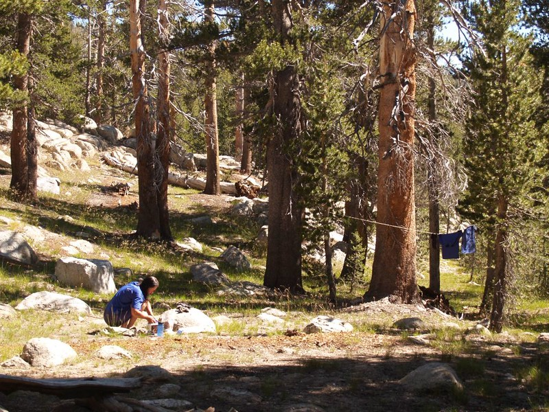 A sunny afternoon is a perfect time to get some laundry done on a Sierra Trek