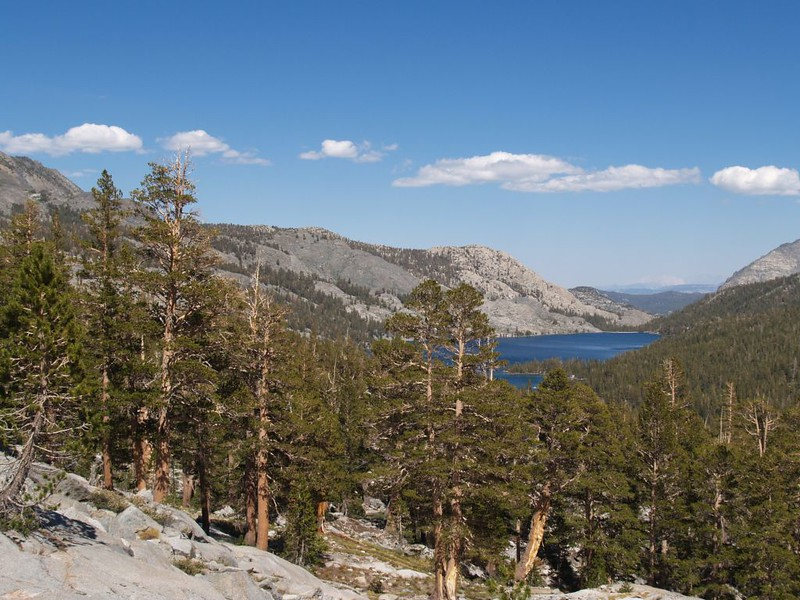 Looking east toward Waugh Lake from the PCT