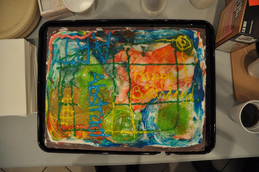 The Happy Birthday Abstract Art birthday cake designed Flickr